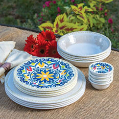 Melamine Dinnerware Set 16-Piece  -  $2.97 Shipping