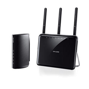 TP-LINK AC1900 Wireless Dual-Band Router (Archer C1900) and Docsis 3.0 Cable Modem (TC-7610) Bundle