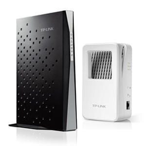 TP-LINK AC1750 Wireless Dual-Band Docsis 3.0 Cable Modem Router (Archer CR700) and AC1200 Range Extender (RE350K)