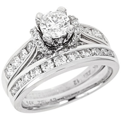 1.95 CT. T.W. Diamond Bridal Set in 14K White Gold (I, I1)