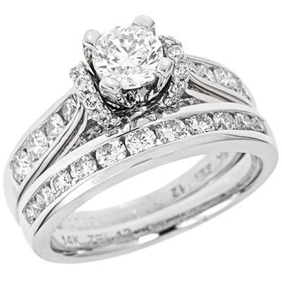 1.95 CT. T.W. Diamond Bridal Set in 14K White Gold (I, I1)