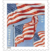 USPS FOREVER® STAMPS, U.S. Flag, 20ct.