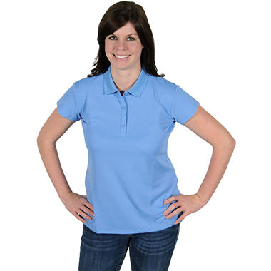 Columbia® Women's Innisfree Short Sleeve Polo - Blue