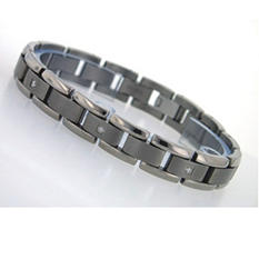 .10 ct. t.w. Diamond and Titanium Men's Bracelet (H-I, I1)