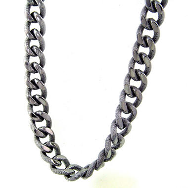 Stainless Steel Two-Tone Curb Chain - 24""