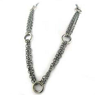 Stainless Steel Multi-Strand Necklace - 32