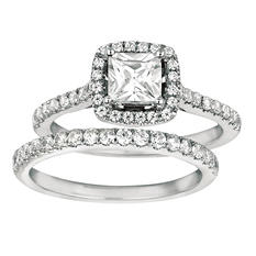 1.25 ct. t.w. Princess-Cut Diamond Bridal Set 14k White Gold (I, I1)