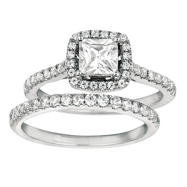 1.25 ct. t.w. Round-Cut Diamond Bridal Set 14k White Gold (I, I1)