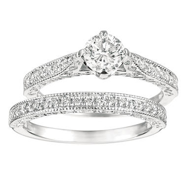 1.00 ct. t.w. Round-Cut Diamond Bridal Set 14K White Gold (I, I1)