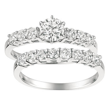 1.45 ct. t.w. Round-Cut Diamond Bridal Set 14K White Gold (I, I1)