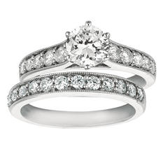 1.65 ct. t.w. Round-Cut Diamond Bridal Set 14k White Gold (I, I1)
