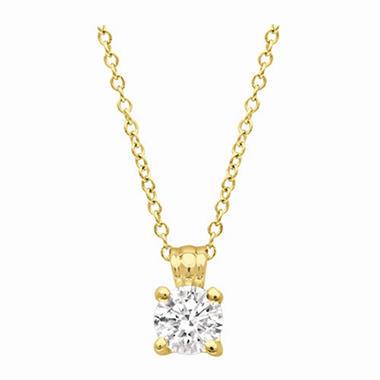 .33 ct. Round-Cut Diamond Pendant in 14K Yellow Gold (I, VS2)