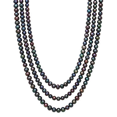 Endless Peacock Freshwater Pearl Necklace - 100""