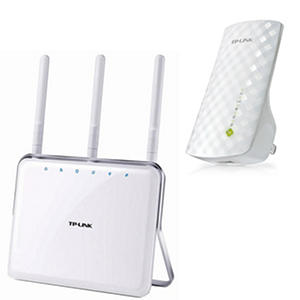 TP-LINK AC1750 Router and AC750 Dual Band Range Extender Bundle