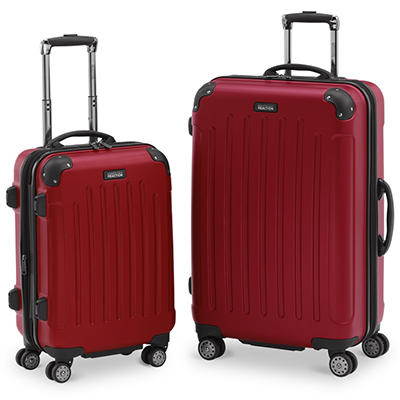 2 Piece Designer Luggage Set  (Grey or Red)