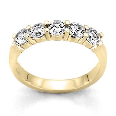 0.25 ct. t.w. 5-Stone Round Diamond Band in 14k Yellow Gold (H-I, I1)
