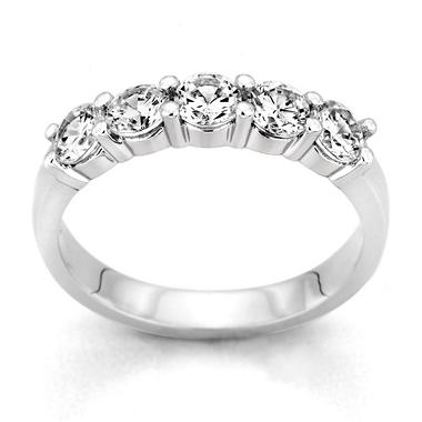 0.25 ct. t.w. 5-Stone Round Diamond Band in Platinum (H-I, I1)