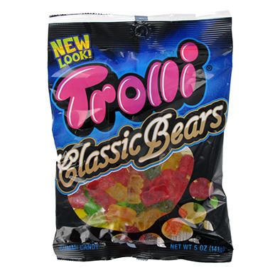 Trolli Brand Gummi Bears Bag - 5 oz. Peg Bag - 12 ct.