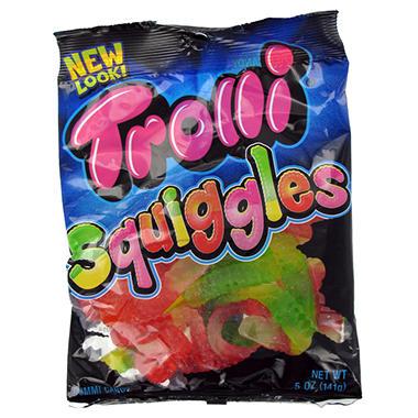 Trolli Brand Gummi Worms - 5 oz. Peg Bag - 12 ct.
