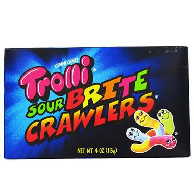 Trolli Brand Sour Gummi Worms Theater Box - 4 oz. Box - 12 ct.