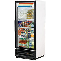 True 1-Door Swing Glass Merchandiser - 12 cu. ft.