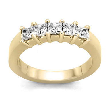 0.25 ct. t.w. 5-Stone Princess Diamond Band in 14k Yellow Gold (H-I, I1)