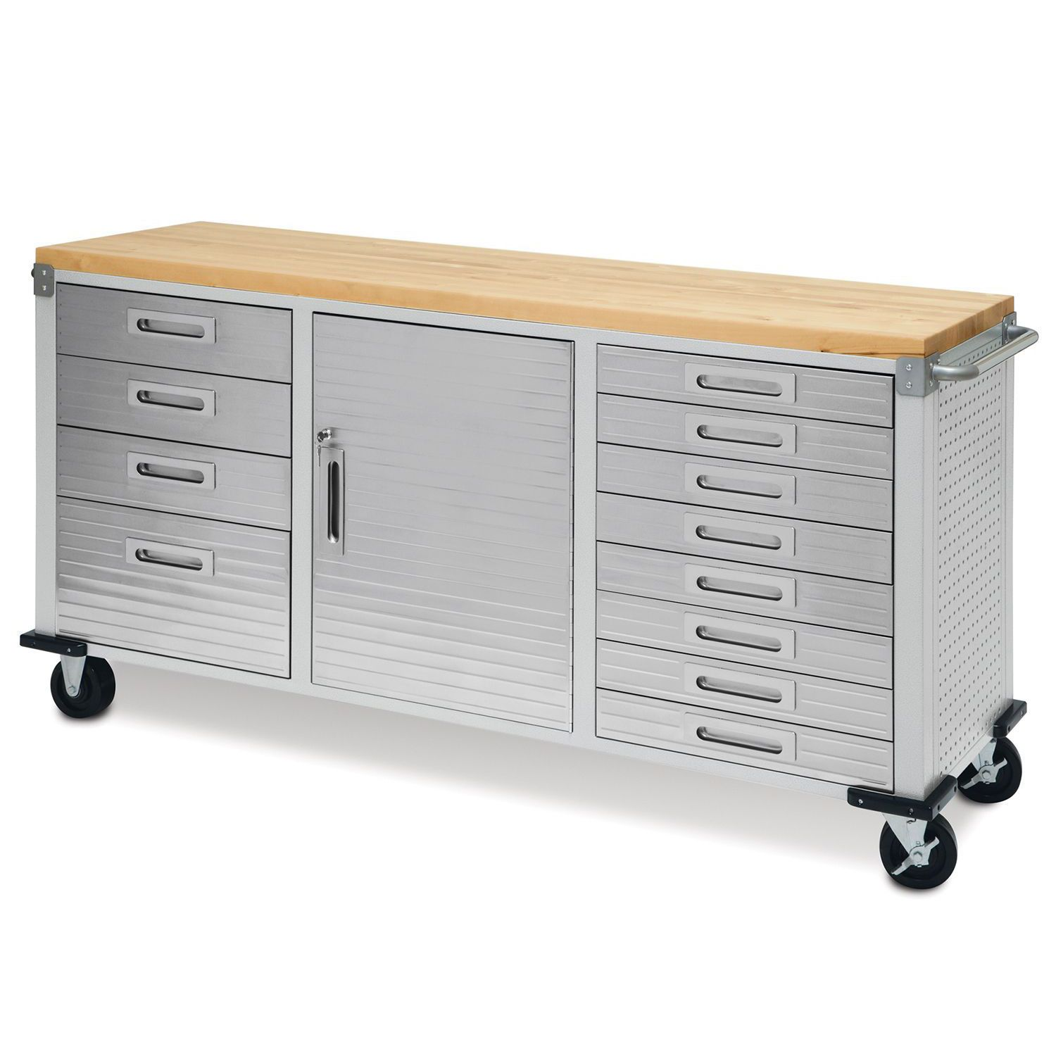 Seville Classics Ultra Heavy-Duty 12-Drawer Rolling Workbench at Sears.com