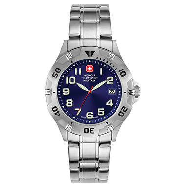 Wenger Swiss Military Men's Brigade Watch - Blue Dial with Numerals