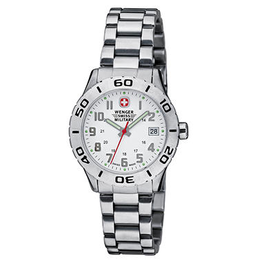 Wenger Swiss Military Grenadier Ladies Watch - White Dial Bracelet