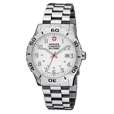 Wenger Swiss Military Grenadier Watch  - White Dial Bracelet