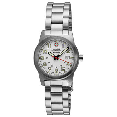 Wenger Swiss Military Classic Ladies Field Watch - White Dial Bracelet