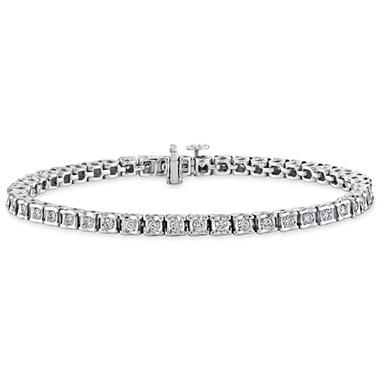"2.00 ct. t.w. ""Ribbons"" Diamond Bracelet in 14k White Gold (H-I, I1)"