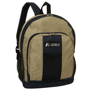 "Everest 17"" Backpacks - Navy/Khaki - 30 ct."