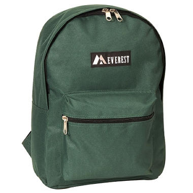 "Everest 15"" Backpacks - Dark Green - 30 ct."