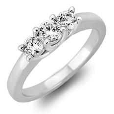 .46 CT. T.W. Round Diamond 3-Stone Ring in 14K White or Yellow Gold (I, I1)