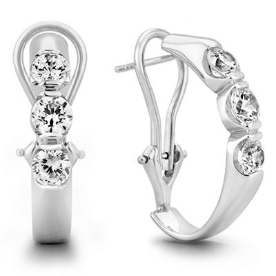 1.45 CT. TW. Diamond Earrings in 14K White Gold (H-I, I1)
