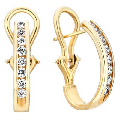 1 CT. TW. Diamond Earrings in 14K Yellow Gold (H-I, I1)
