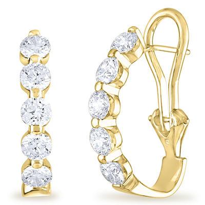 2 CT. TW. Diamond Earrings in 14K Yellow Gold (H-I, I1)