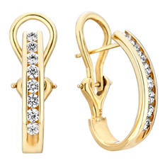 .46 CT. TW. Diamond Earrings in 14K Yellow Gold (H-I, I1)