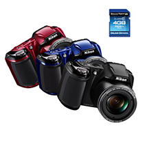 Nikon Coolpix L810 16.1MP Digital Camera with 26x Optical Zoom and Bonus 4GB Memory Card