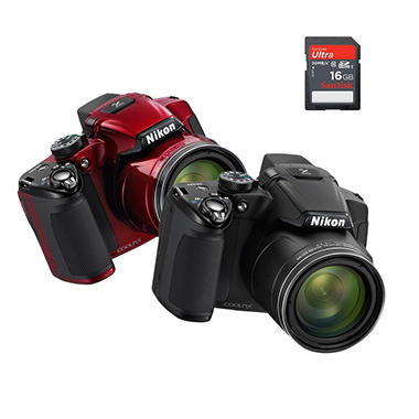 Nikon Coolpix P510 16.1MP Digital Camera with 42x Optical Zoom and 16GB SDHC Card