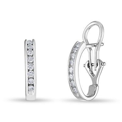 .23 CT. TW. Diamond Earrings in 14K White Gold (H-I, I1)