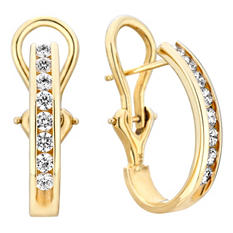 .23 CT. TW. Diamond Earrings in 14K Yellow Gold (H-I, I1)