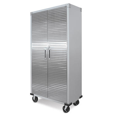 Ultra Heavy-Duty Storage Cabinet with 3 Adjustable Shelves, Key Lock,  5 inch Heavy-duty Wheels