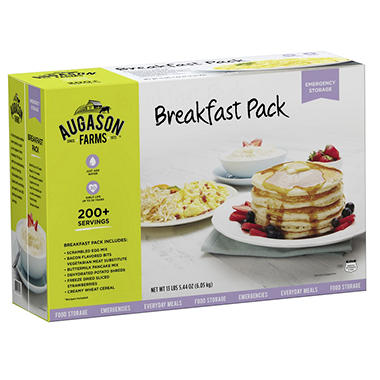 Augason Farms Breakfast Kit - #10 cans - 6 pk.