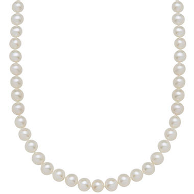 Freshwater Cultured Pearl Necklace Strand in 14K Yellow Gold