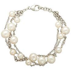Freshwater Cultured Pearl Multilayered Bracelet