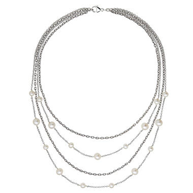 Freshwater Cultured Pearl Multilayered Necklace
