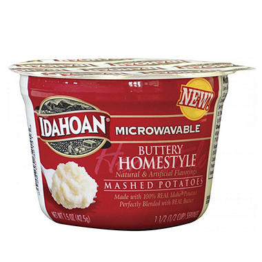 Idahoan Buttery Home-style Mashed Potatoes - 1.5 oz. Cups - 24 ct.
