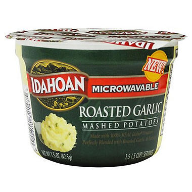 Idahoan Roasted Garlic Mashed Potatoes - 1.5 oz. Cups - 24 ct.